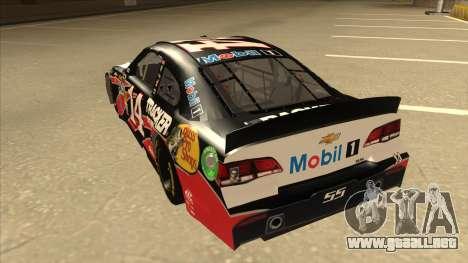 Chevrolet SS NASCAR No. 14 Mobil 1 Tracker Boats para GTA San Andreas vista hacia atrás