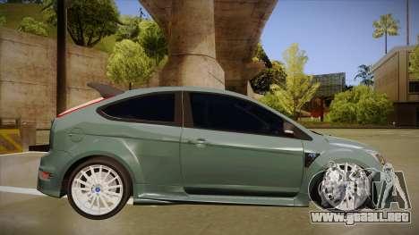Ford Focus RS 2010 para GTA San Andreas vista posterior izquierda