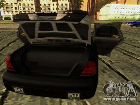 Ford Crown Victoria Police Interceptor para la vista superior GTA San Andreas