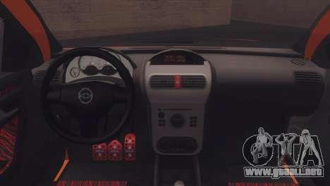 Chevrolet Montana Combo para visión interna GTA San Andreas