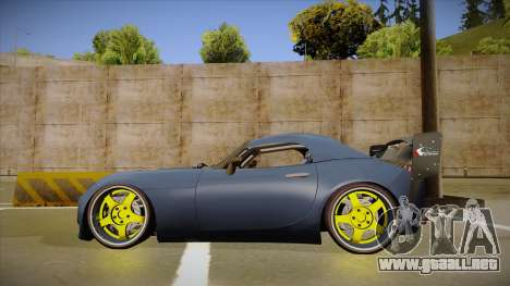 Pontiac Solstice Rhys Millen para GTA San Andreas vista posterior izquierda