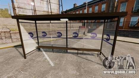 Publicidad real en las paradas de autobús para GTA 4 sexto de pantalla