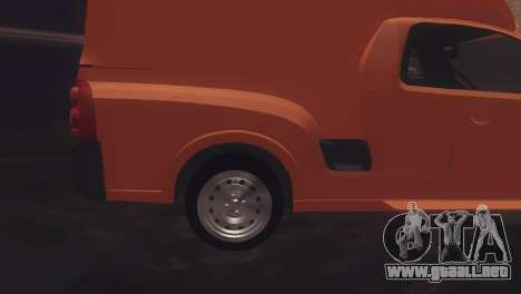 Chevrolet Montana Combo para GTA San Andreas vista posterior izquierda