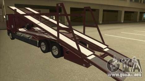 International 9700 Car Hauler para GTA San Andreas vista hacia atrás