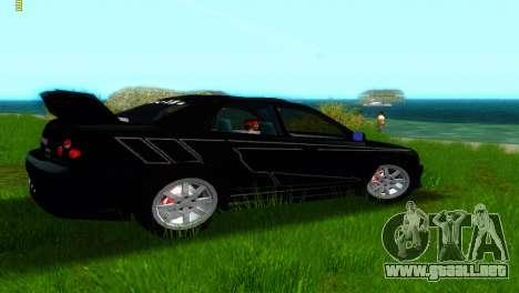 Subaru Impreza WRX v1.1 para GTA Vice City vista posterior