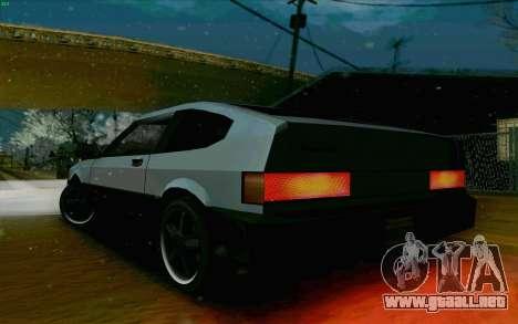 Blista Compact Type R para GTA San Andreas vista hacia atrás