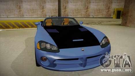Dodge Viper v1 para GTA San Andreas left