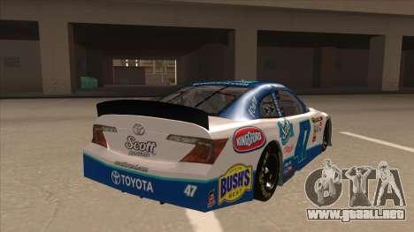 Toyota Camry NASCAR No. 47 Scott para la visión correcta GTA San Andreas