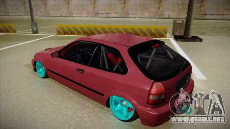 Honda Civic EK9 Drift Edition para GTA San Andreas vista hacia atrás