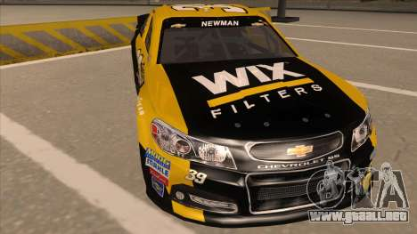 Chevrolet SS NASCAR No. 39  Wix Filters para GTA San Andreas left
