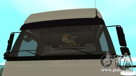 KAMAZ 5490 para la visión correcta GTA San Andreas