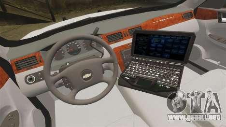 Chevrolet Impala BCSD 2010 [ELS] para GTA 4 vista hacia atrás