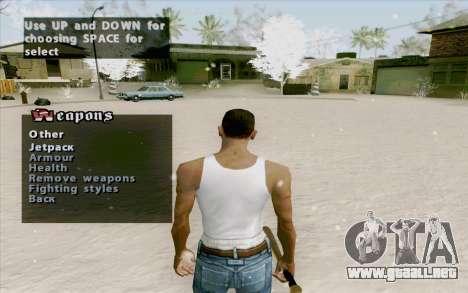 Weapons Menu Mod para GTA San Andreas tercera pantalla