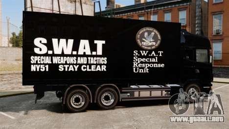Nuevo camión SWAT para GTA 4 left