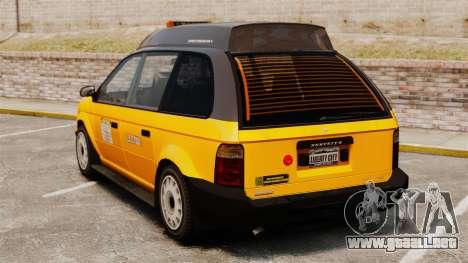 Taxi mejorada para GTA 4 Vista posterior izquierda