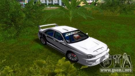 Subaru Impreza WRX v1.1 para GTA Vice City