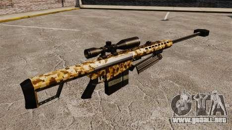 El v10 de rifle de francotirador Barrett M82 para GTA 4 segundos de pantalla