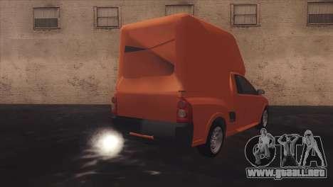 Chevrolet Montana Combo para vista lateral GTA San Andreas