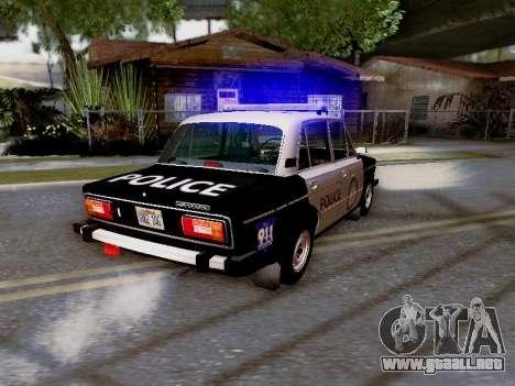Policía de Los Santos 2106 VAZ para la vista superior GTA San Andreas