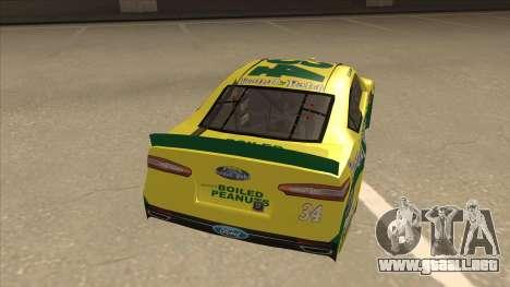 Ford Fusion NASCAR No. 34 Peanut Patch para la visión correcta GTA San Andreas