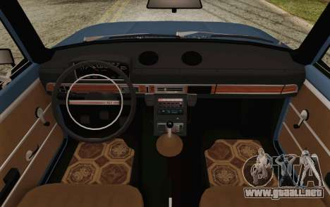 VAZ 21011 Aeroflot para visión interna GTA San Andreas