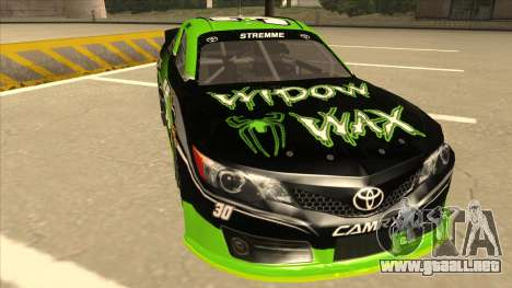 Toyota Camry NASCAR No. 30 Widow Wax para GTA San Andreas left