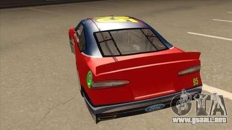 Ford Fusion NASCAR No. 95 para GTA San Andreas vista hacia atrás