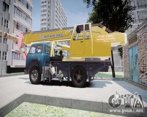 MAZ 500 KS3577-4-4 KRANEKS para GTA 4 left
