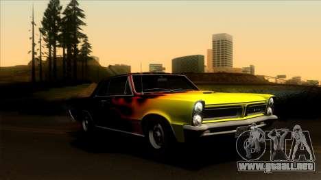 Pontiac Tempest LeMans GTO Hardtop Coupe 1965 para la vista superior GTA San Andreas