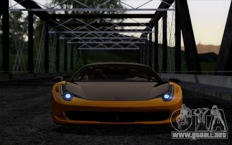Ferrari 458 Italia Novitec Rosso Carbon para la visión correcta GTA San Andreas
