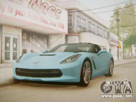 Chevrolet Corvette C7 Stingray 2014 para la visión correcta GTA San Andreas