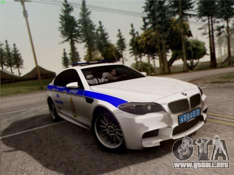 BMW M5 F10 INTERIOR OFICINA para GTA San Andreas