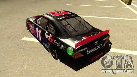 Toyota Camry NASCAR No. 11 FedEx Freight para GTA San Andreas vista hacia atrás