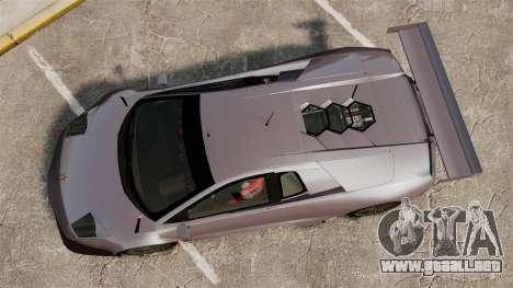 Lamborghini Murcielago RSV FIA GT1 v2.0 para GTA 4 visión correcta