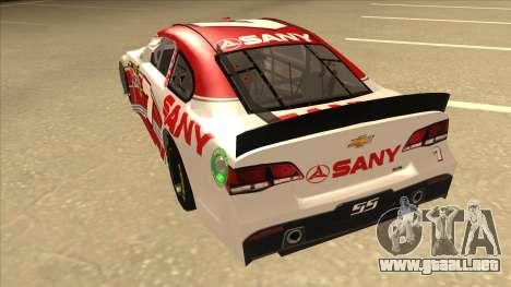 Chevrolet SS NASCAR No. 7 Sany para GTA San Andreas vista hacia atrás