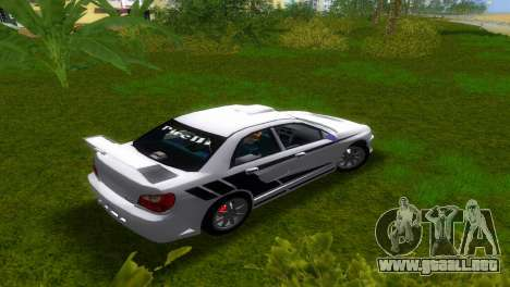 Subaru Impreza WRX v1.1 para GTA Vice City vista lateral izquierdo