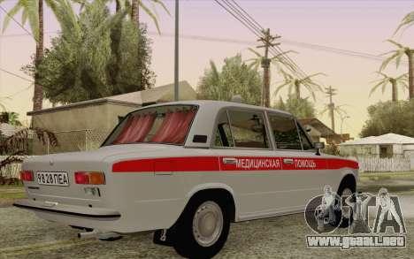 VAZ 21011 asistencia médica para GTA San Andreas vista hacia atrás
