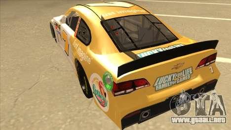 Chevrolet SS NASCAR No. 7 Florida Lottery para GTA San Andreas vista hacia atrás