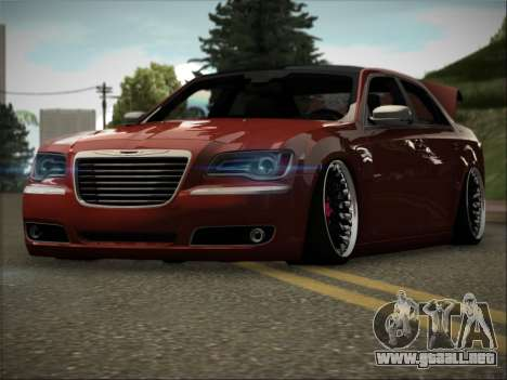 Chrysler 300C Stance para GTA San Andreas vista hacia atrás