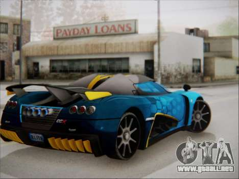 Koenigsegg CCX Elite para GTA San Andreas left