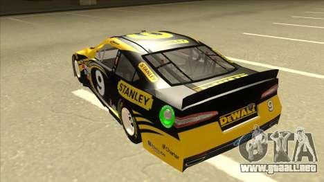 Ford Fusion NASCAR No. 9 Stanley DeWalt para GTA San Andreas vista hacia atrás