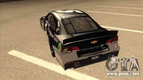 Chevrolet SS NASCAR No. 5 Time Warner Cable para GTA San Andreas vista hacia atrás
