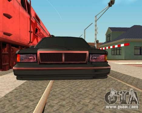 Entonado Premier V2 para GTA San Andreas vista posterior izquierda