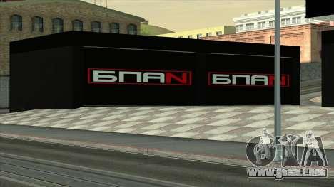 El garaje en Doherty BPAN para GTA San Andreas tercera pantalla