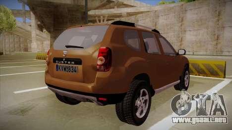 Dacia Duster Elite para la visión correcta GTA San Andreas