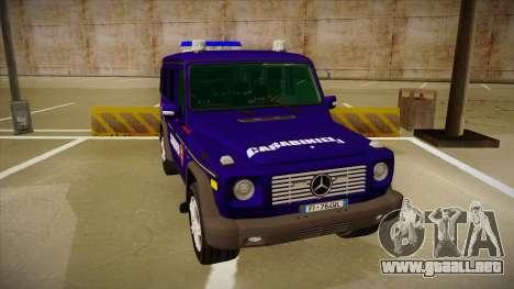 Mercedes Benz G8 Carabinieri para GTA San Andreas left