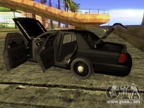 Ford Crown Victoria Police Interceptor para GTA San Andreas vista posterior izquierda
