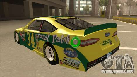 Ford Fusion NASCAR No. 34 Peanut Patch para GTA San Andreas vista hacia atrás