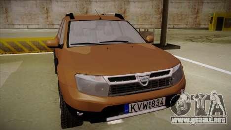 Dacia Duster Elite para GTA San Andreas left