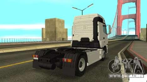 KAMAZ 5490 para GTA San Andreas vista posterior izquierda